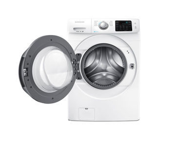 samsung 4.2-cu ft high-efficiency stackable front-load washer (white
