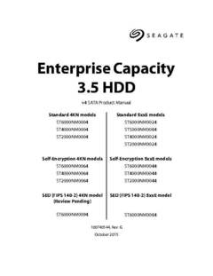 View Seagate Enterprise Capacity 3.5 HDD v4 SATA Product Manual PDF