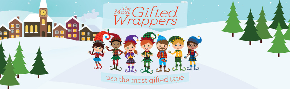 Scotch™ Brand The Most Gifted Wrappers™ use the most gifted tape