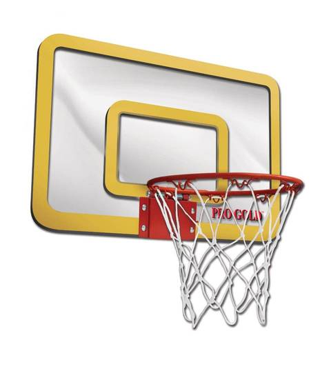 Pro Gold Over The Door Breakaway Hoop Set is an easy to assemble basketball rim backboard and net that hangs over your door for the ultimate slam-dunk ...