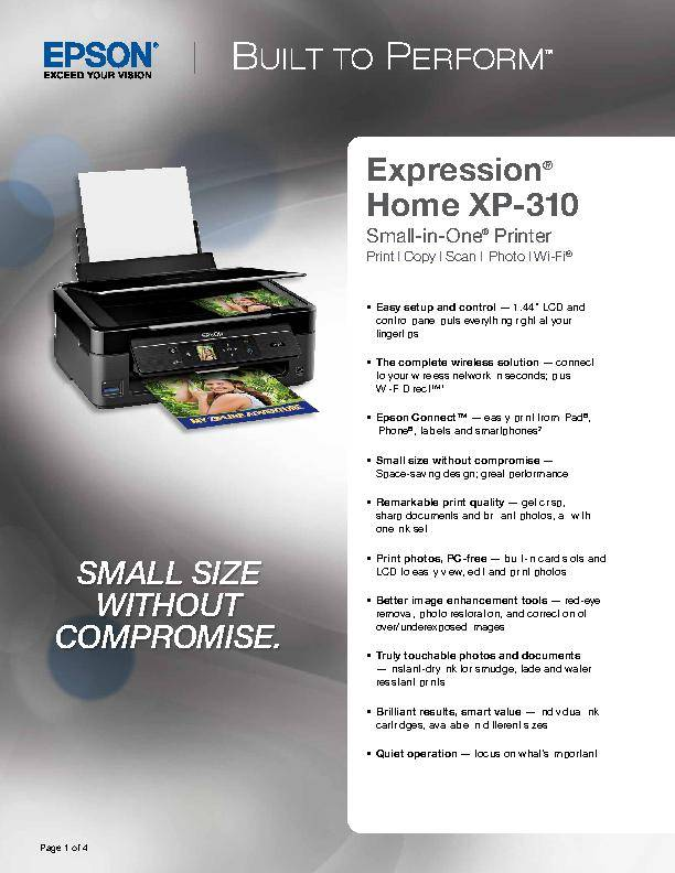 Epson Expression Home XP-310 All-in-One Printer/Copier