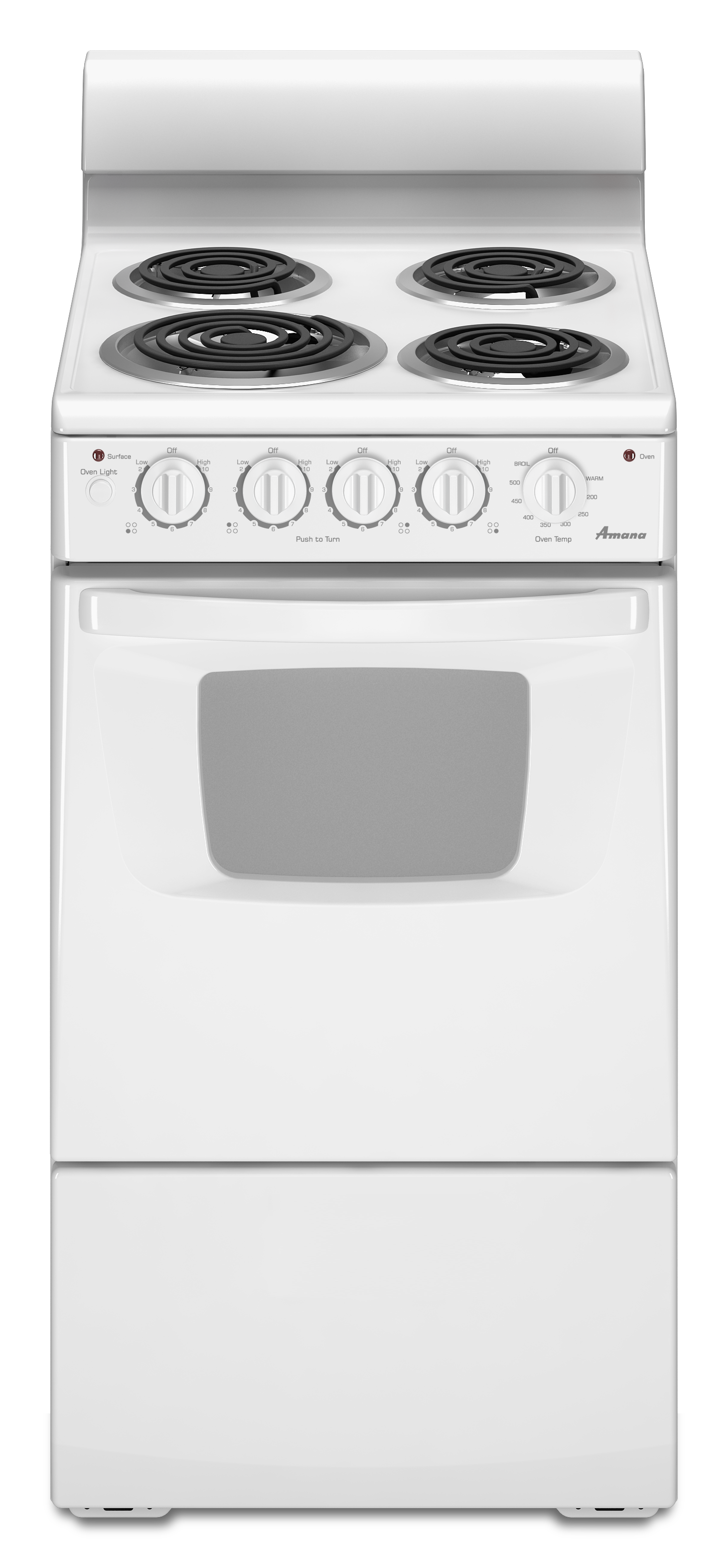 Shop Amana 26 Cu Ft Freestanding Electric Range White Common 20 Gas Stove Wiring Diagram 1