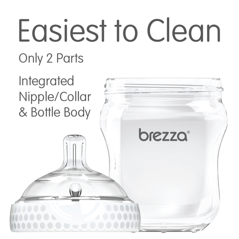 a850a70a9b4 Baby Brezza Natural Glass Baby Bottle - Easiest to Clean - 5oz