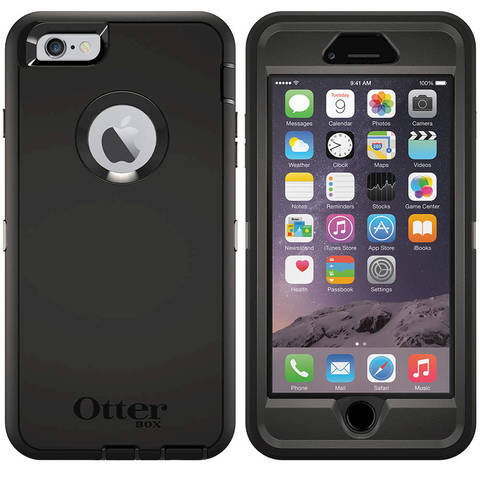 OtterBox Defender Case for Apple iPhone 6 Plus (Black) - Newegg.com dca489b1d280
