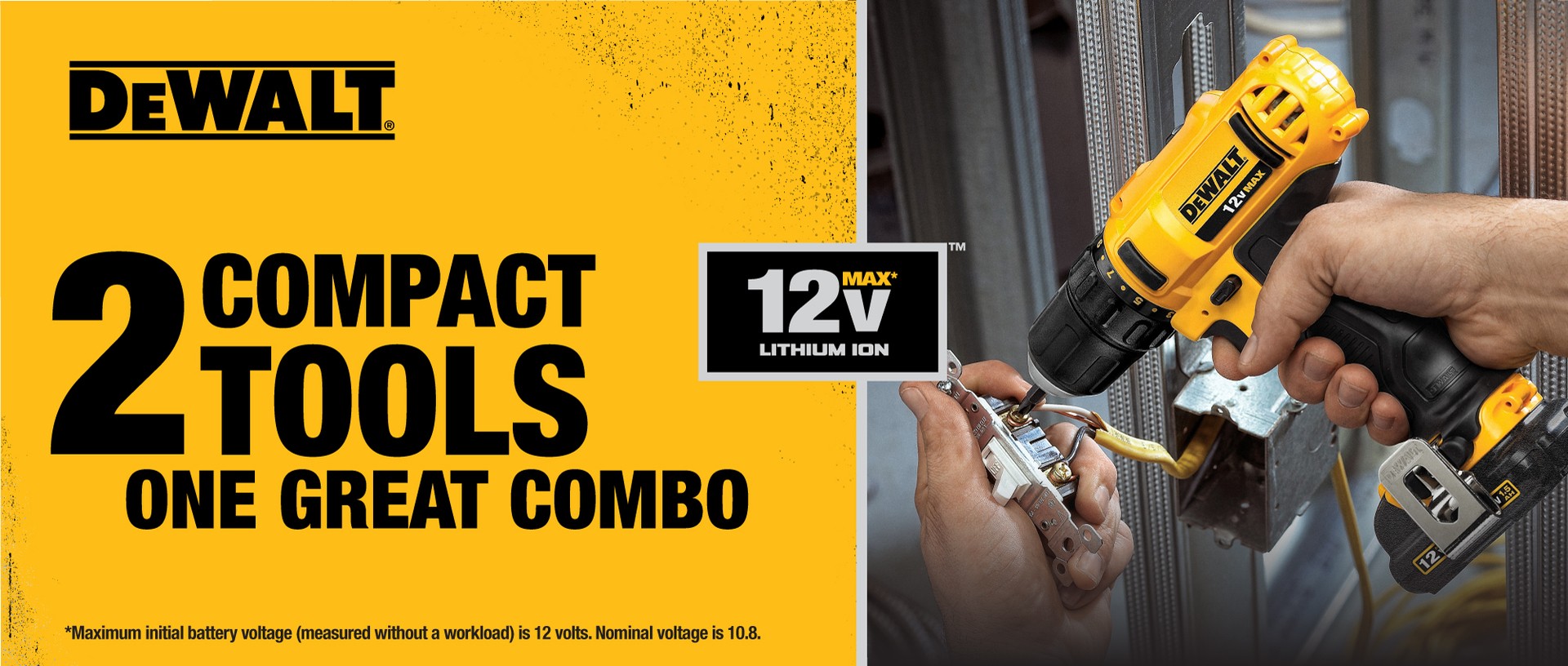 DEWALT 2-Tool 12-Volt Max Power Tool Combo Kit with Soft