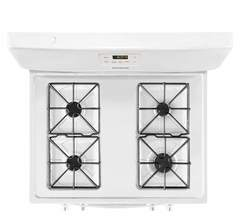 Frigidaire Gas Freestanding Range: FFGF3016TW, Cooking surface