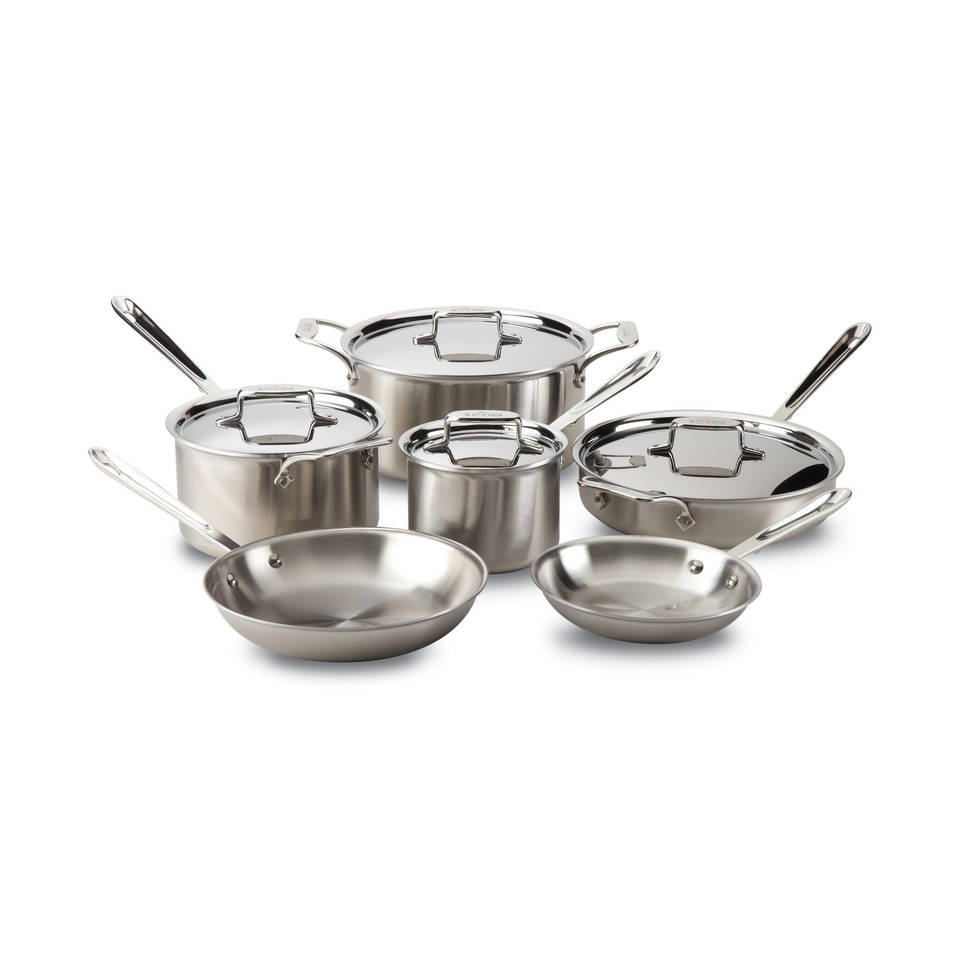 All Clad D5 Brushed Stainless Steel 10 Piece Cookware Set Reviews