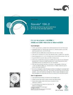 View Savvio 15K.2 Data Sheet PDF