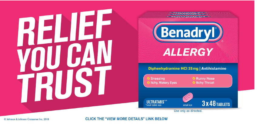 Benadryl Allergy Ultratabs, 144 Tablets