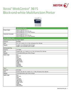 View Detailed Specifications - WorkCentre 3615 PDF