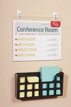 Use the small wire hook to hang conference room signage (#17067)