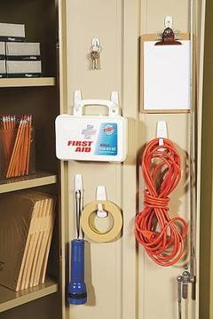 Organize your supply room cabinet with the medium hooks (#17001)