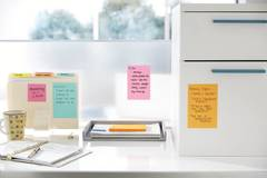 Post-it® Super Sticky Notes are perfect for hanging to-do lists on a vertical surface