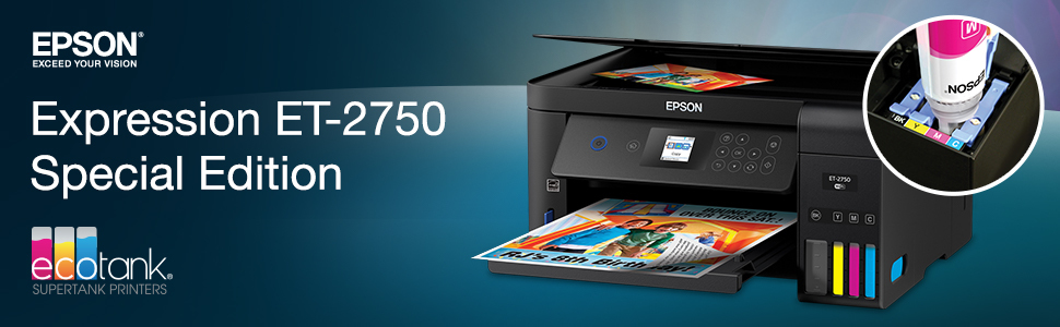 Epson EcoTank 2750 Special Edition All-in-One Printer With Bonus Black Ink