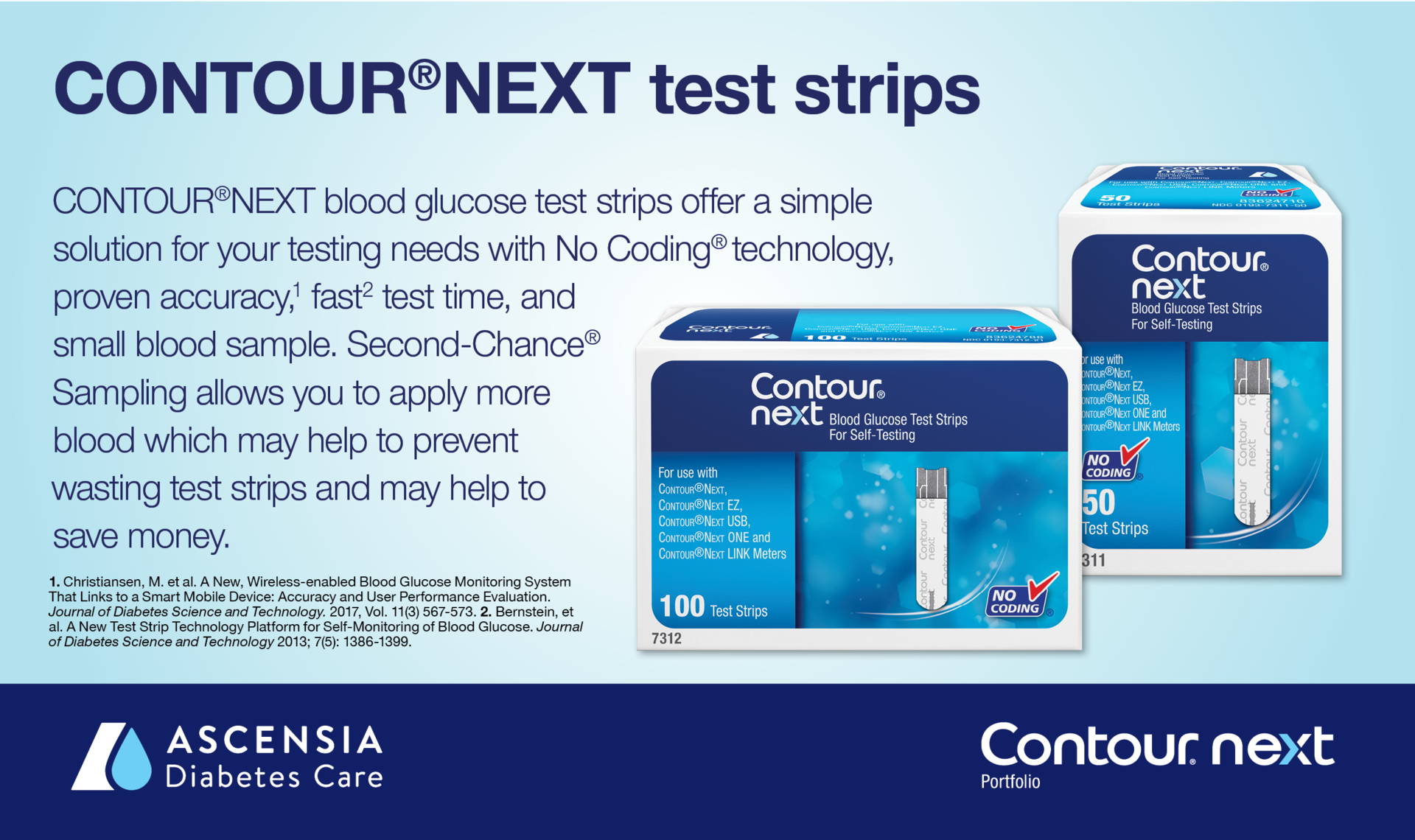 Contour Next Blood Glucose Test Strip