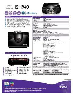 SH940 Specification Sheet - opens PDF