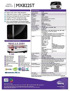MX822ST Specification Sheet - opens PDF