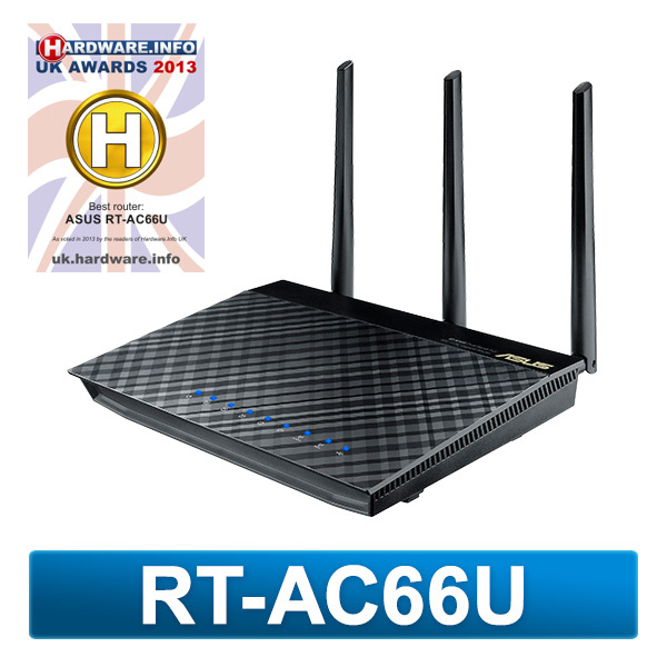 ASUS RT-AC66U AiCloud Dual-Band Wireless 2.4GHz/5GHz Gigabit 802.11 ...
