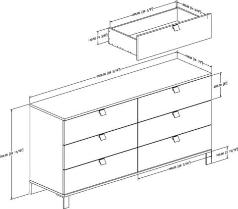 Dresser Dimensions plain dresser dimensions standard 6 drawer with decor