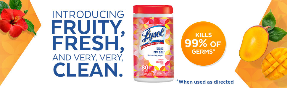 INTRODUCING FRUITY, FRESH, AND VERY, VERY, CLEAN. KILLS 99% OF GERMS WHEN USED AS DIRECTED