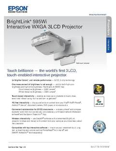 BrightLink 595Wi Product Specifications - opens PDF