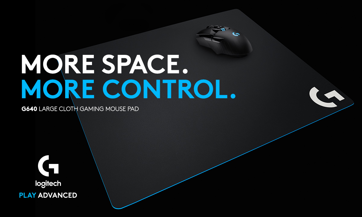 MORE SPACE. MORE CONTROL. G640 Large Cloth Gaming Mouse Pad