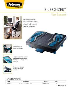 View Energizer Foot Support PDF