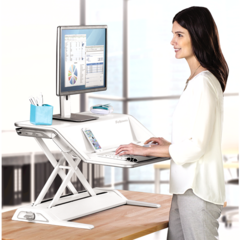 Lotus Sit-Stand Workstation - White