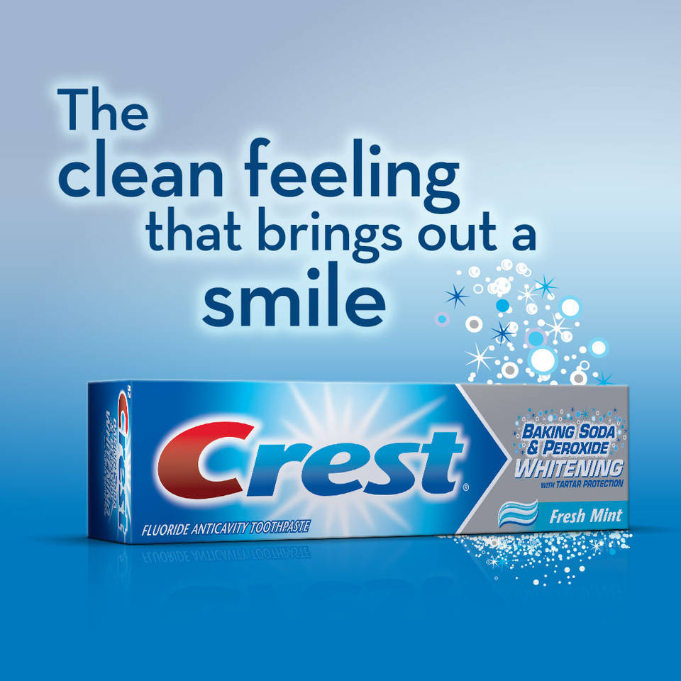Crest Baking Soda And Peroxide Whitening Toothpaste Mint 6 4 Oz