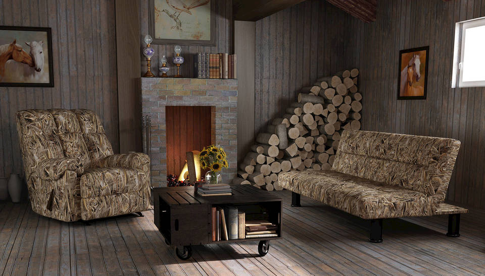 camo living room furniture. Realtree Max 5  Camouflage Recliner Futon Bundle Dorel Home Rocker Walmart com