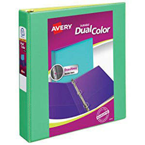 avery my team view binder with 1 round rings sports frame black