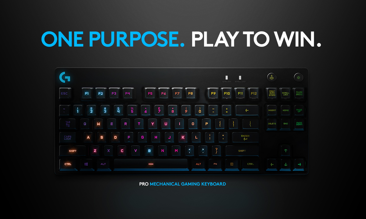 Logitech Pro Mechanical Gaming Keyboard in Black | Nebraska