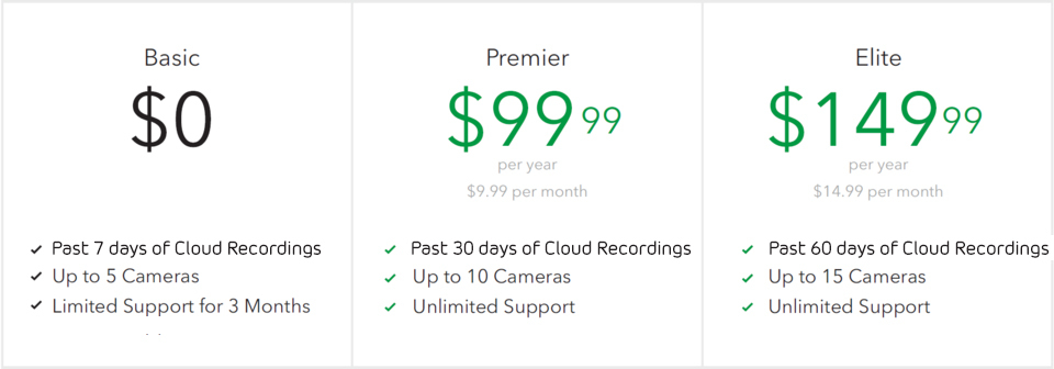 Arlo pro 2 security system 2 rchrgble wirefree hd 1080p camera arlo cameras record video to the cloud every time motion or activity is detected how long these recordings are retained in the cloud is determined by your asfbconference2016 Gallery