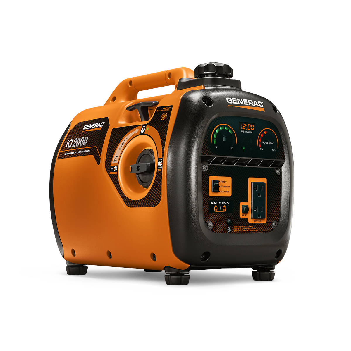 portable generators. Generac IQ2000 Watt Quiet Smart 1600-Running-Watt Inverter Portable Generator With Engine Generators A