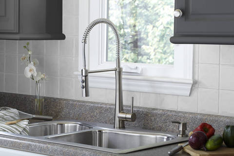 Lovely The Stainless Steel Finish Offers A True Commercial Kitchen Look While  Easily Complementing Any Décor. Plus, Itu0027s A PVD Anti Tarnish Finish To  Ensure It ...