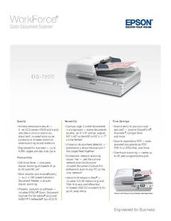 View WorkForce DS-7500 Product Specifications PDF