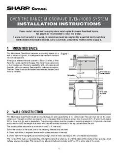 View R-1514 Over-the-range 1.5 cu.ft., 1000w Installation Guide PDF