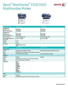 View Detailed Specifications – WorkCentre 3335/3345 PDF