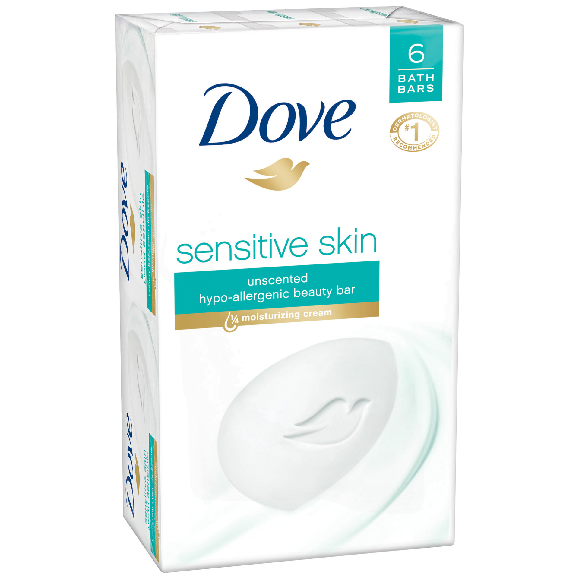 dove sensitive skin beauty bar  4 oz
