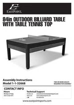 EastPoint Sports 84 Inch Outdoor Billiard Pool Table With Table Tennis Top    Walmart.com