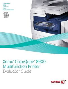 View Evaluator Guide - ColorQube 8900 (PDF) PDF
