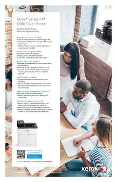 View Xerox® VersaLink® C600 Color Printer PDF