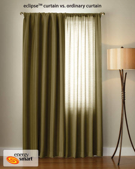 Curtains Ideas black out curtains walmart : Eclipse Samara Blackout Energy-Efficient Thermal Curtain Panel ...