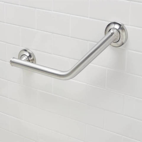 Featuring A Convenient SecureMount Design, This Grab Bar Is Easy To  Install. The SecureMount Anchors Allow Versatile Installation At Any Angle  And Help ...