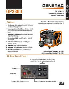 Generac GP 3300-Running-Watt Gasoline Portable Generator at Lowes com