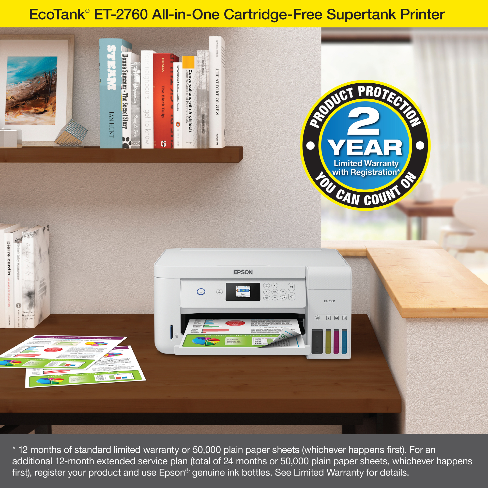 Epson EcoTank ET-2760 All-in-One Supertank Printer