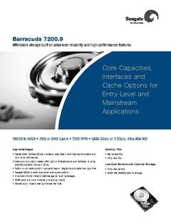 View Barracuda 7200.9 Data Sheet PDF