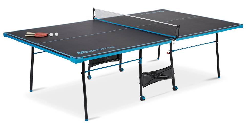 Lovely MD Sports Official Size Table Tennis Table, Black/Blue