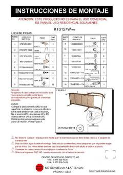 Assembly Instruction In Spanish