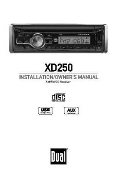 Dual XD250 CD Player with Auxiliary Input and USB Charging ...